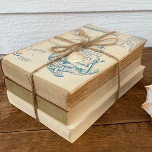 Shabby Chic Vintage Book Decor Unbound Tied Bundle